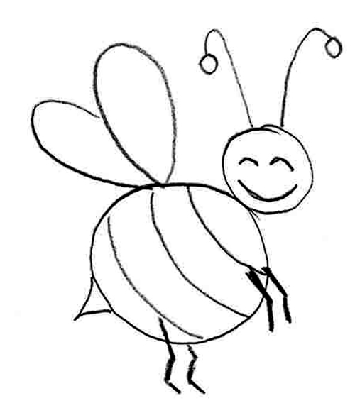 honey bee drawing
