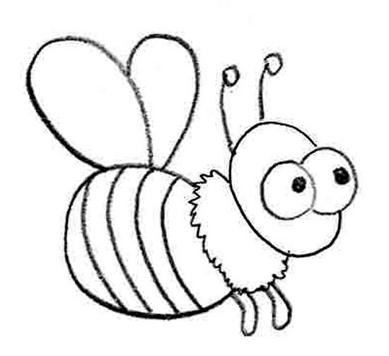 how to draw a bee easy