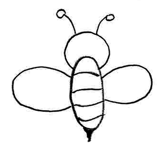 how to draw a bee stinger out of skin