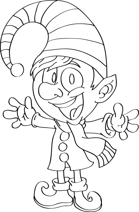 christmas elf drawing