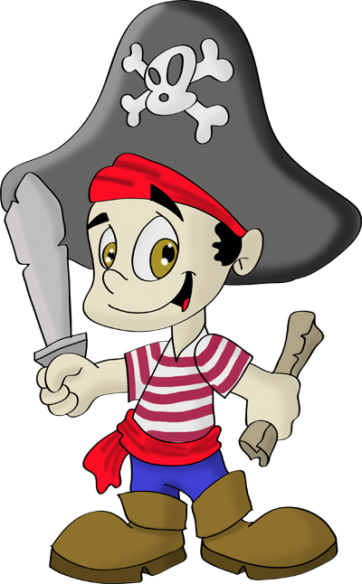 cartoon drawings of pirates
