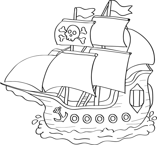 pirate ship drawing